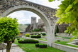 The wall in the inner Park on the territory of the fortress in the form of arches. Made of stone, the bridge has no