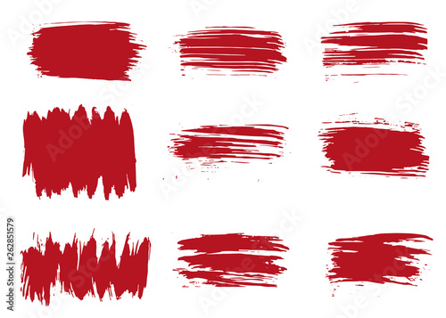 Grunge texture red vector illustration © Keya