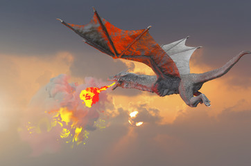 the dragon fly 3D render