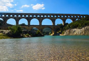 Vue du Pont du Gard