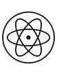 canvas print picture - atom symbol forscher wissenschaft labor kreis logo lernen atomkern neutron proton mikroskop clipart