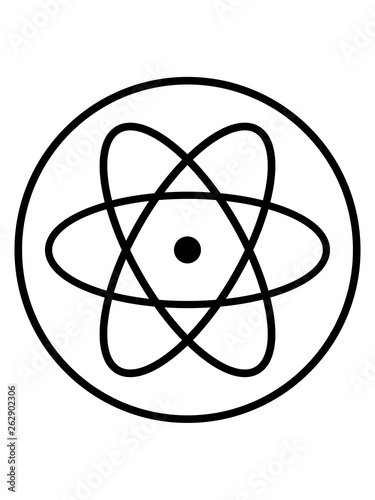 canvas print picture atom symbol forscher wissenschaft labor kreis logo lernen atomkern neutron proton mikroskop clipart