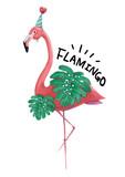 Beautiful and cute flamingo