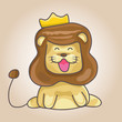 lion cartoon with crown - 262909163