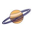 Saturn planet milky way galaxy blue lines - 262913792