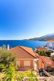 Houses roof on greek seaside