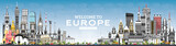 Welcome to Europe Skyline with Gray Buildings and Blue Sky.