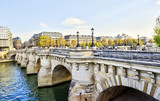 Views of Seine river in Paris, France, travel Europe