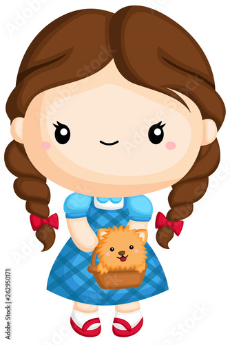 a vector of Dorothy from wizard of oz