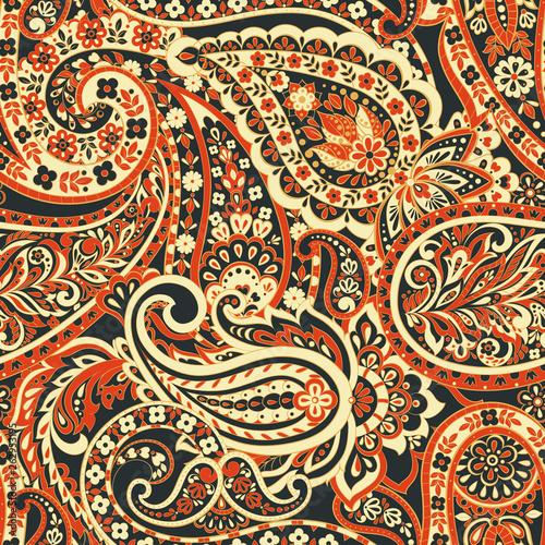 Paisley Ornamental seamless pattern.