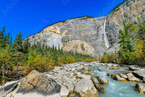 Takakkaw falls is the second highest waterfall in Western Canada, Yoho National Park,British Columbia