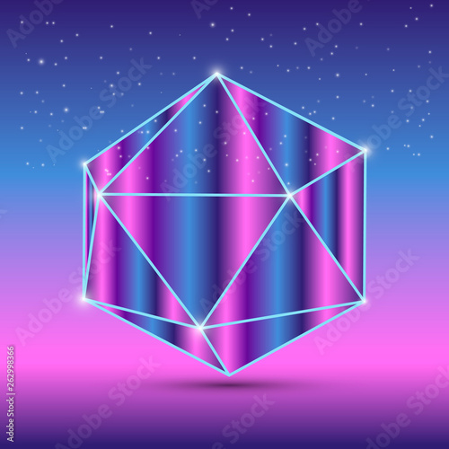 Abstract isometric octahedron - 262998366