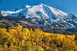 Quadro Mount Sopris autumn landscape in Colorado