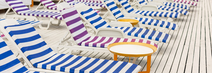 Chairs at a swmming pool