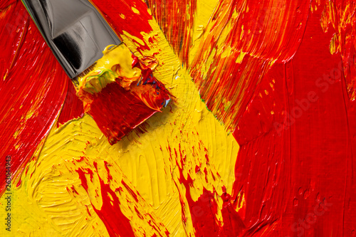 abstract oil painting with paintbrush © orinocoArt