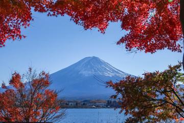 Autumn Season Fuji  Mountain at Kawaguchiko lake, Japan.