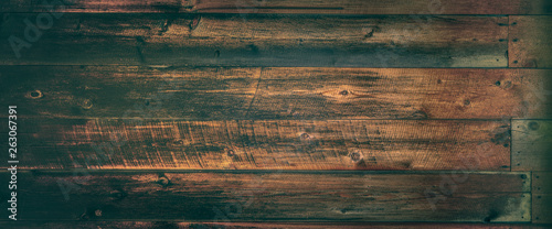 Dark Vintage Weathered Wooden Background - 263067391
