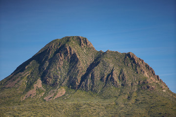 Desert mountain landscape blue sky