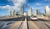 Road to Downtown Miami from Brickell Key - 263078556