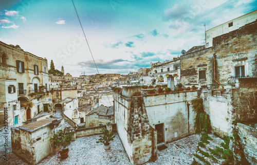 Matera, Basilicata. Ancient homes and buildings, Italy - 263080914