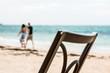metal chair on the beach