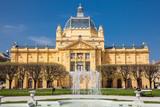 The historical Art Pavilion building in Zagreb capital of Croatia