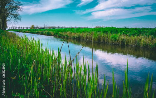Colorful Lake  landscape made in Oosthuizen