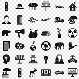 Earth care icons set. Simple style of 36 earth care vector icons for web for any design