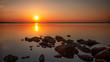 canvas print picture - Sonnenuntergang am Steinhuder Meer