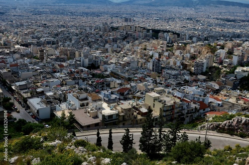 beautiful view from the height of the city in Greece © Tania