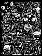 set of funny kawai cats - 263222362