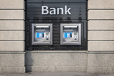 Bank ATM automatic  teller machines for money withdrawing. The station of self service automatic machines, Concept of banking. - 263222328