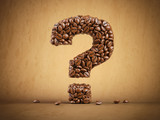 Question mark created from coffee beans. - 263222350