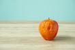 canvas print picture - Rotten apple on the table. テーブルの上の腐ったリンゴ