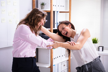 Two Colleague Fighting In Office