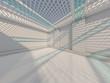 Leinwandbild Motiv Abstract modern architecture background. 3D