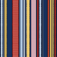 Colorful Trendy vertical stripes pattern for textile design. seamless pattern in vector design for fashion,fabric,wallpaper,web and all prints