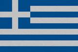 Greece fabric flag