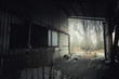 canvas print picture - Abandoned room in Pripyat cement factory, Chernobyl Exclusion Zone 2019