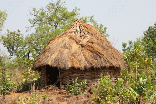 traditional africian house in the village