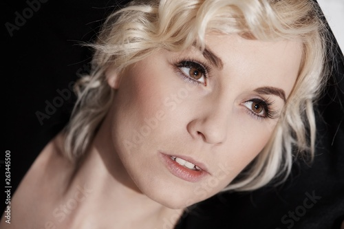 canvas print picture Closeup photo of blonde woman