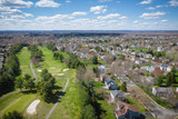 Aerial View of Spring Nice Day in Plainsboro New Jersey