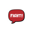 red comic bubble chat fight video game theme