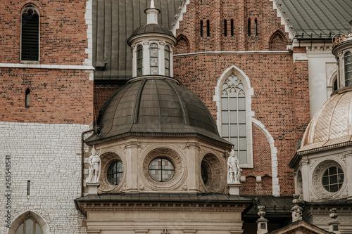 Ancient castle in Krakow close-up