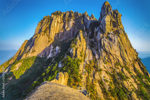 Yellow Mountains Huangshan, Anhui Province in China.