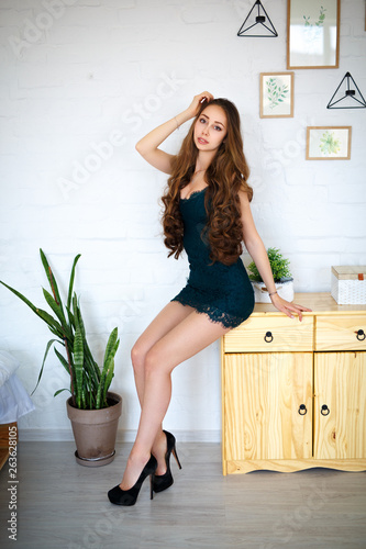 canvas print picture Perfect style woman in a sexy dress