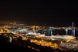 Port of Barcelona at Night