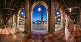 Venice, Italy. Panoramic cityscape image of St. Mark's square in Venice, Italy during sunrise.