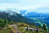 Austrian Alps-outlook of the town Schladming from Guschen