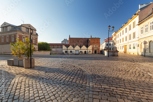 Krakow. District of Kazimierz the market square of the old Jewish  quater